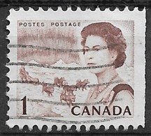 Canada 1971. Scott #454e (U) Northern Lights And Dog Team - Single Stamps