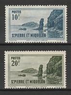 SAINT PIERRE ET MIQUELON 1942 YT N° 294 Et 295 ** GOMME TROPICALE - Unused Stamps