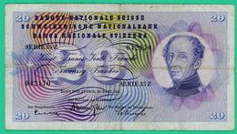 20 Francs - Suisse - Série 35Z - 042170 - TB + - 1963 - - Switzerland