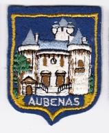 Ecusson Tissu - Aubenas (07) - Blason - Armoiries - Héraldique - Ecussons Tissu