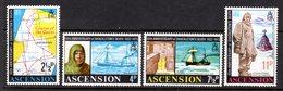 ASCENSION - 1972 SHACKLETON ANNIVERSARY SET (4V) FINE MNH ** SG 159-162 - Ascension
