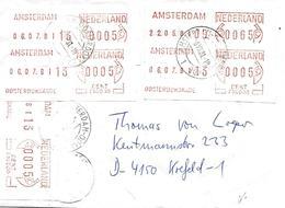 ATM Amsterdam Vers Allemagne Sur Lettre 1981. Voir 2 Scan - Period 1980-... (Beatrix)