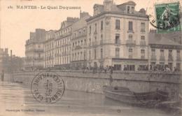 NANTES - Le Quai Duquesne... Animée  ..pecheurs - Nantes