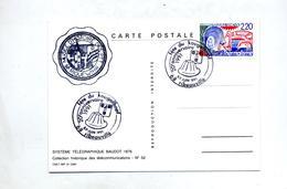 Carte Cachet  Ribeauville Fete Du Kougelhopf Vue Systeme Baudot - Storia Postale