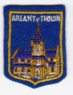 Ecusson Tissu - Aillant-sur-Tholon (89) - Blason - Armoiries - Héraldique - Ecussons Tissu