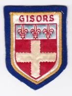 Ecusson Tissu - Gisors (27) - Blason - Armoiries - Héraldique - Ecussons Tissu