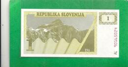 REPUBLIKA SLOVENIJA . 1 TOLAR . N° AL 90165024  .  2 SCANES - Slovénie