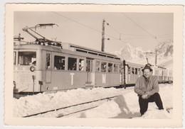 27267 Photo Train Mont Blanc Aiguille Midi  France Chamonix-fev 1962 - - Trains