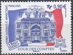 TAAF 2007 Yvert 471 Neuf ** Cote (2017) 3.60 Euro 200 Ans Cour Des Comptes Emission Avec La France Et Les DOM-TOM - Terres Australes Et Antarctiques Françaises (TAAF)
