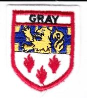 Ecusson Tissu - Gray (70) - Blason - Armoiries - Héraldique - Ecussons Tissu