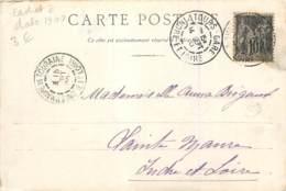 Cachet à Date 1900 Tours Gare Sur Carte De Toulouse - Marcofilie (Brieven)