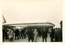 Photo 13x9 Cm - Avion Marcel Dassault écrit Sur Le Fuselage - Exposition Ou Salon De L'Aviation Années 50 - Aviazione