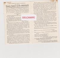 DOODSPRENTJE DERVEAUX ROMAIN ZOON VAN ODO EN PLANCKAERT BELLEGEM KOGO PARACOMMANDO GEKWETST IN KONGO - Images Religieuses