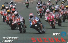 Télécarte Japon / NTT 290-038 ** ONE PUNCH ** - MOTO / SUZUKA - MOTOR BIKE RACE Japan Phonecard - Motorräder