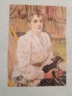 (X1) Henri De Toulouse- Lautrec : Portrait De Dame Avec Petit Chien. Vue Unique. - Peintures & Tableaux