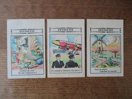 """SERIE DE 3 IMAGES """"DEVINETTE""""  MAUBEUGE PANNELS-HUBERT CHAUSSURES AVENUE ROOSEVELT - Old Paper"""