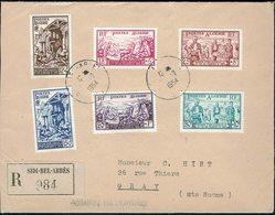 Algérie - 1954 - Série N° 319/324 Sur Enveloppe Recommandée De Sidi-Bel-Abbès, Pour Gray (Fr) TB - - Algérie (1924-1962)
