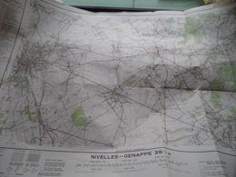 Belgie Stafkaart NIVELLES - GENAPPE 39/7-8 Schaal 1/25.000 - 1954 ! - Europe