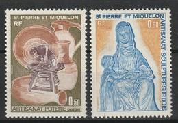 SAINT PIERRE ET MIQUELON 1975 YT N° 443 Et 444 ** - Unused Stamps