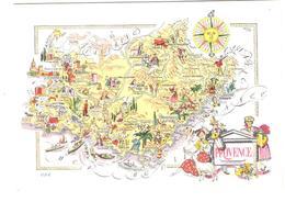France - Provence - Map - Landkarte - Maps