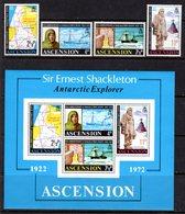 ASCENSION - 1972 SHACKLETON ANNIVERSARY SET (4V) & MS FINE MNH ** SG 159-162, MS163 - Ascension