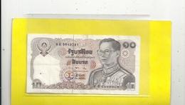 THAILAND . 10 BAHT . N° 9 E 5619781 .  2 SCANES - Thailand