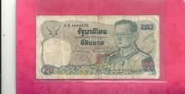 THAILAND . 20 BAHT . N° 0 B 4805805 .  2 SCANES - Thailand