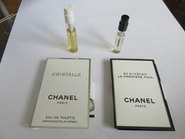 Echantillon Tube Sur Carton  Chanel - Parfums - Stalen