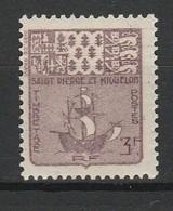 SAINT PIERRE ET MIQUELON TAXE 1947 YT N° 72 ** - Timbres-taxe