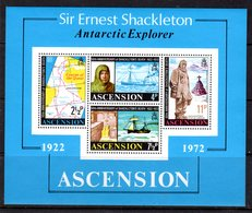 ASCENSION - 1972 SHACKLETON ANNIVERSARY MS FINE MNH ** SG MS163 - Ascension (Ile De L')