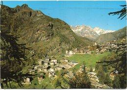 Valle D'Aosta - VALTOURNANCHE M. 1524 - Panorama - Sullo Sfondo Le Grandes Murailles - Italia