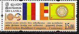 SRI LANKA, 2019, MNH,BUDDHISM, ALL CEYLON BUDDHIST CONGRESS CENTENARY, FLAGS,1v - Buddhism