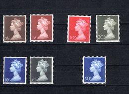 D0048 Great Britain Grossbritannien Mnh, Mi 507-10, 549-51 - 1952-.... (Elisabeth II.)