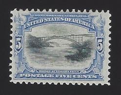 US #297 1901 Ultramarine & Black Wmk 191 Perf 12 Mint OG LH F-VF SCV 75.00 - Unused Stamps