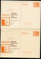 DDR P86II-37-88 C37 Postkarten Zudruck KOLLOQUIUM KLEINKLÄRANLAGEN PASSERVERSCHIEBUNG Weimar 1988 - Cartoline Private - Nuovi