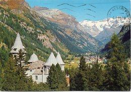 Valle D'Aosta - GRESSONEY ST. JEAN M. 1385 - Il Castel Savoia Con Lo Sfondo Della Valle E Il M. Rosa - Italia
