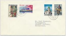 Island - In Die Schweiz Gelaufener Brief - Lettres & Documents