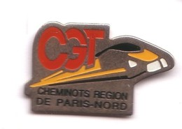 T98 Pin's SNCF TRAIN TGV CGT SYNDICAT PARIS NORD Achat Immédiat - TGV