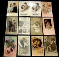 Beau Lot De 60 Cartes Postales De Fantaisie - Mooi Lot Van 60 Postkaarten Fantasie -  Voir Les 6 Scans - Cartes Postales