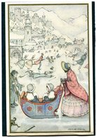 ANTON PIECK VOOR HET KIND IJSVERMAAK 1936.Vintage Post Card Pieck.Traineau Antique.Arreslee.Sleigh.Unwritten.Nice! - Pieck, Anton