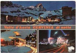 Valle D'Aosta - BREUIL CERVINIA Di Notte - Vedute - Italia