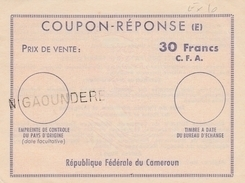 Coupon Réponse Cameroun 30 Francs CFA - Griffe N Gaoundere - CRI IAS IRC - !!! Trace De Pli Vertical - Fold ! - Cameroun (1960-...)