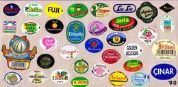 Etiquettes De Fruits °_ Toutes Différentes Sur Papier Siliconé-feuillet N° 70 - Frutta E Verdura