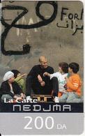 ALGERIA - Zinedine Zidane, Wataniya Telecom Prepaid Card 200 DA, Exp.date 30/06/08, Used - Algeria