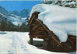 COGNE - Valmiana Sotto La Neve M. 1730 - Sullo Sfondo Il Gran Paradiso M. 4060 - Italia