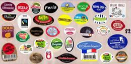 Etiquettes De Fruits °_ Toutes Différentes Sur Papier Siliconé-feuillet N° 82 - Fruits Et Légumes
