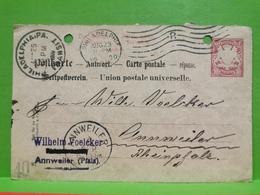 Germany, Bavière, Annweiler 1900 Sended To U. S. À Philadelphia - Bayern