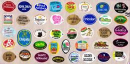 Etiquettes De Fruits °_ Toutes Différentes Sur Papier Siliconé-feuillet N° 90 - Fruits Et Légumes