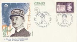 Enveloppe Premier Jour D'émission 16.10.1971 Général Charles Delestraint Chef De L'armée Secrète - FDC