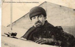 Portrait Du Célebre Aviateur Le Lieutenant CONNEAU   -  CPA - Aviatori